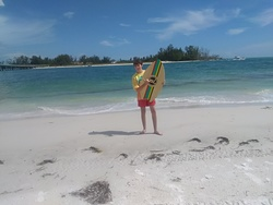 Hayden Pearson with a skim board., Anna Maria Island photo