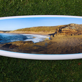 First surfboard photo quality decal, Fistral-North