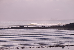 Fun autumn swell at Oxwich Point. photo