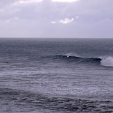 Fun autumn swell at Oxwich Point.