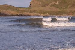 Lovely small autumn swell at Three Peaks, Llangennith photo