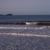 Lovely small autumn swell at Three Peaks, Llangennith