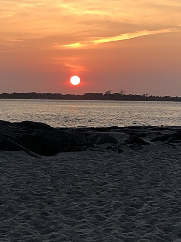 End of a beautiful day at Island Beach State Park