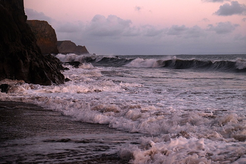 Low neap tide - it's just starting to work, Fall Bay Reef