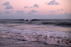 Paddling out on a low neap tide - it's just starting to work., Fall Bay Reef photo