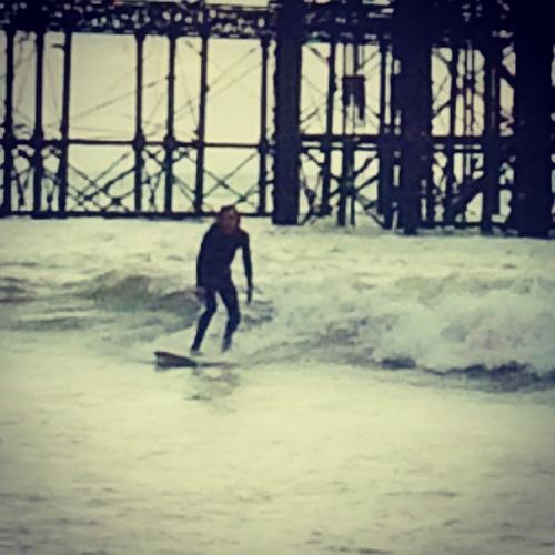 West pier autumn groundswell, Brighton