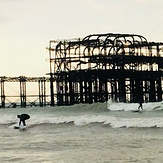 West pier fires sometimes, Brighton