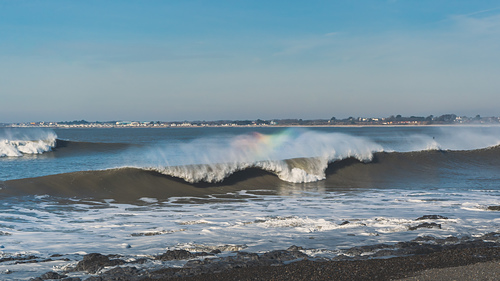 Ogmore River rainbow surf, Ogmore-by-Sea