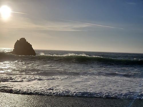 Breaking near beach, Navarro Rivermouth