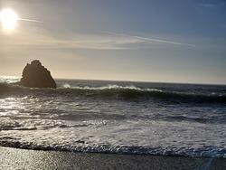 Breaking near beach, Navarro Rivermouth photo