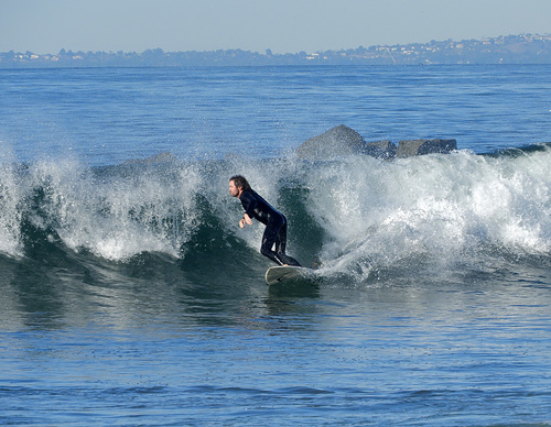 Finally a decent wave!, Venice Breakwater