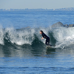 Finally a decent wave!, Venice Breakwater