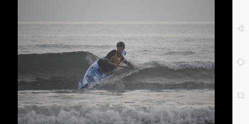 Finn Steiner in th blue Jandal ., Orewa Beach