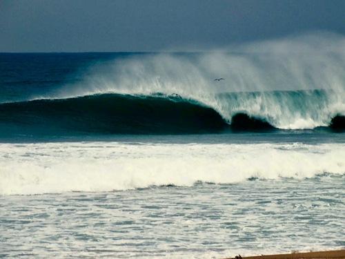 Barrel at our homebeach, Praia da Vagueira