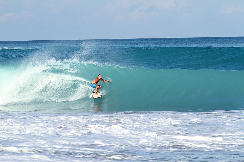 Flagpoles surf break