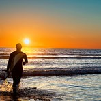 calm sunsets at moonstone, Moonstone Beach
