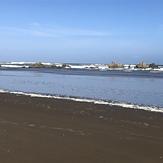 Herbertville beach. Rocks at south end