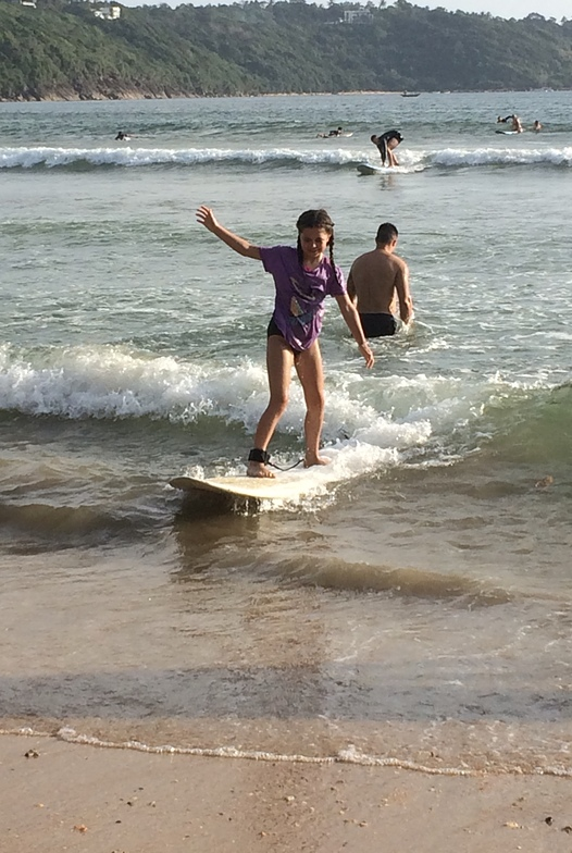 New Years Day surfing, Unawatuna