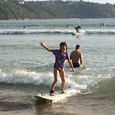 New Years Day surfing, Unawatuna
