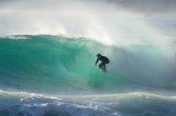 Sweet wave on the bank, Scarborough Beach photo