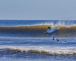 clean hurricane swell, New Smyrna Inlet photo