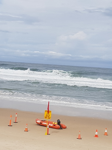 Bumpy storm swell today, Southport Main Beach