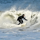 Winter storm swells., The Cove at Sandy Hook