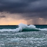 scarborough backwash and storm sky, Scarborough Beach