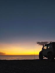 Gon fishing, Leithfield Beach photo