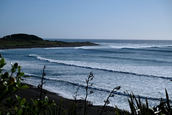 Short-lived early autumn swell at Kumera Patch. photo