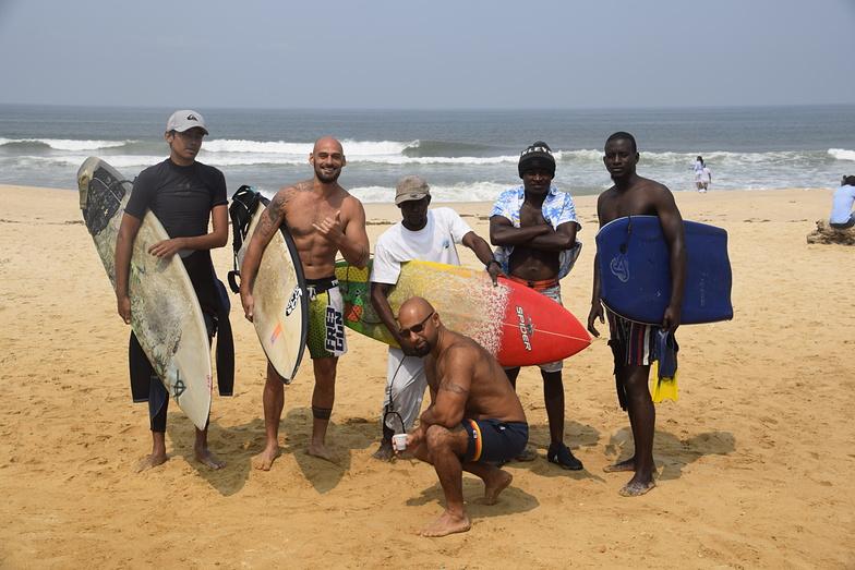 Ponton surf, Cote Sauvage