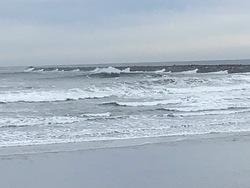 The jetty from the beach, Westport-The Corner photo