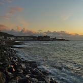 Aberystwyth sea front in calm conditions, Aberwystwyth Beach