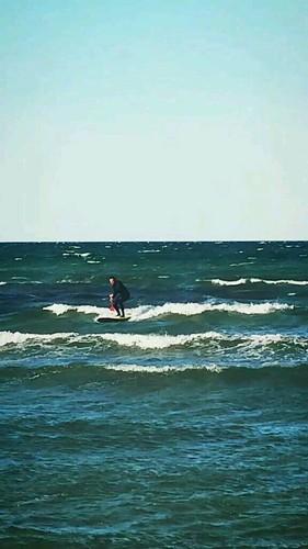Sup surfing at Hohwachter Bucht