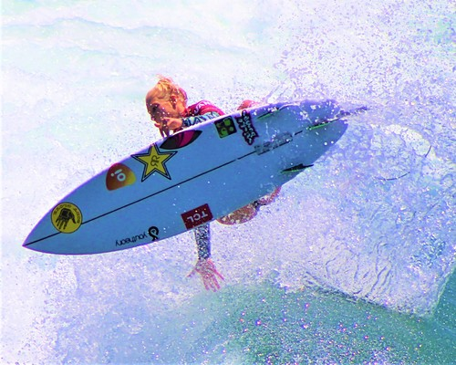 Tatiana Weston-Webb going airborne, Huntington Beach