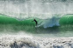 Kamikaze beach break surfing, Mitchell's Cove photo