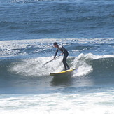 SUP boarder showing how it's done, Pacific City/Cape Kiwanda