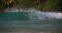 Morning surf in Mirissa  photo