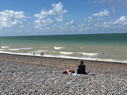 Midsummer windswell at Dieppe, Pourville photo