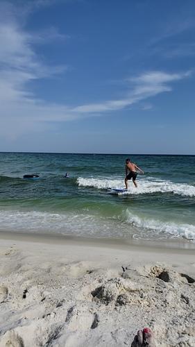 Little waves but the were still fun, Navarre Beach Pier