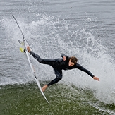 In the air, Steamer Lane-The Slot