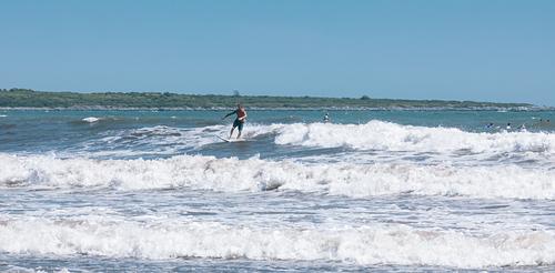 Surfing at Second Beach, Sachuest Beach (2nd Beach)