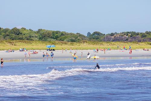 Beautiful day at Second Beach, Sachuest Beach (2nd Beach)