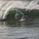 Big wave, Steamer Lane-Middle Peak