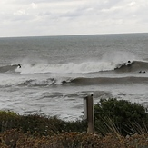 Small swell at high tide, La Sauzaie