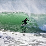 beach break surfing, Steamer Lane-The Slot