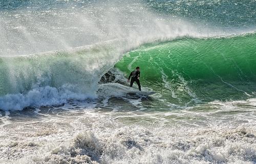 Beach Break surfing, Steamer Lane-The Slot