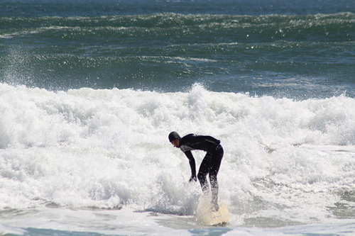 The moments before the wipeout, Salisbury Beach