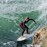 Running the Slot, Steamer Lane-The Slot