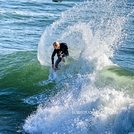 Top turn at the Point, Steamer Lane-The Point